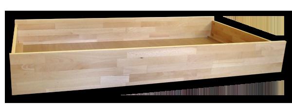 3/4 zásuvka pod posteľ z masívu 90 cm (1 ks) - Styler
